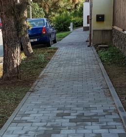 Dokončení opravy chodníku vulici Vodní