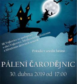 Pozvánka: Pálení čarodějnic na hřišti