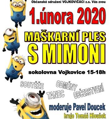 Pozvánka: Maškarní ples s mimoni 1.2.2020